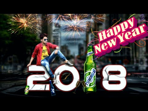 Photoshop Cc How To Edit Happy New Year 2018 Special Photo