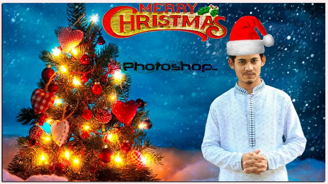 merry christmas day special manipulation photo editing in photoshop cc 2017 tutorials